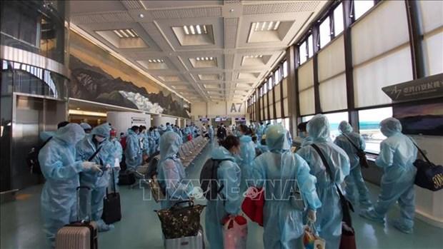 Repatrian a 340 ciudadanos vietnamitas de Taiwan (China) hinh anh 1