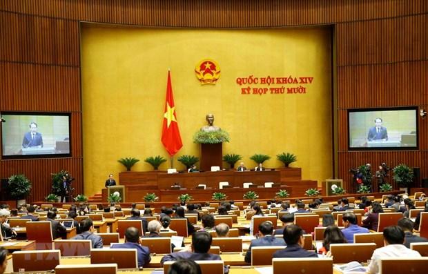 Parlamento vietnamita discute dos proyectos de ley hinh anh 1