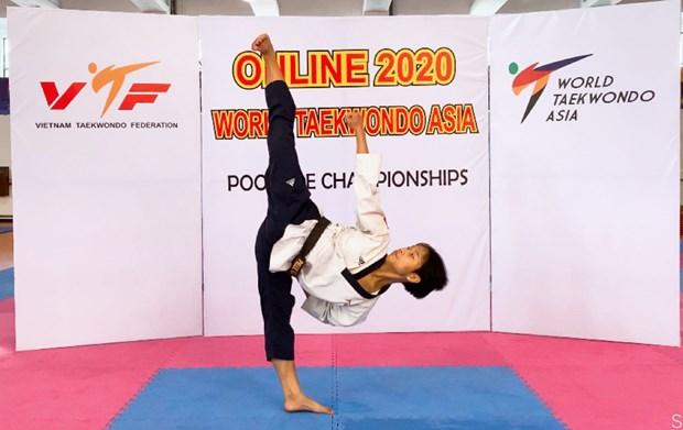 Gana Vietnam medalla de bronce en Campeonato Asiatico de Taekwondo 2020 hinh anh 1