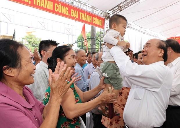Primer ministro de Vietnam asiste a festival de unidad nacional en provincia de Hai Duong hinh anh 1