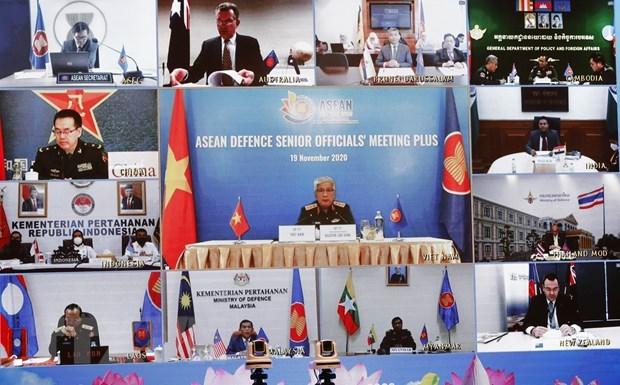 Mantienen solidaridad y prestigio de ASEAN en cooperacion multilateral de defensa hinh anh 1