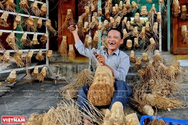 Estatuas de tocon de bambu de Hoi An hinh anh 1