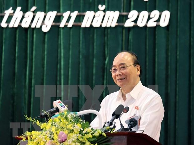 Primer ministro se reune con electores en Hai Phong hinh anh 1