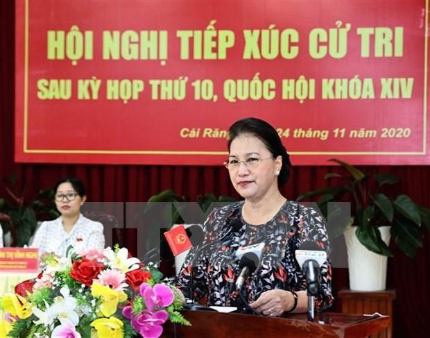 Presidenta del Parlamento de Vietnam se reune con votantes de ciudad surena de Can Tho hinh anh 1