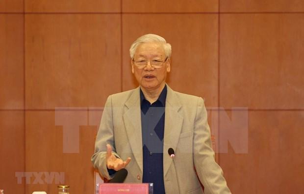 Lider partidista vietnamita urge a acelerar la lucha anticorrupcion hinh anh 1
