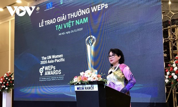 Empresas vietnamitas reciben premio de empoderamiento economico para mujeres de Asia-Pacifico hinh anh 1