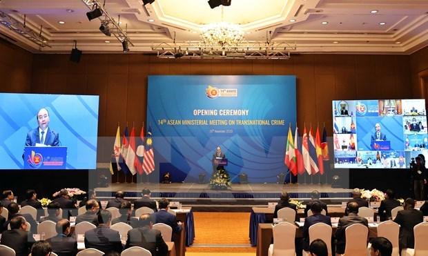 Inauguran Conferencia ministerial de la ASEAN sobre el Crimen Transnacional hinh anh 1