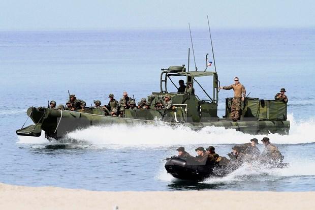 Patrullajes conjuntos ayudan a mantener la seguridad en el Mar del Este hinh anh 1