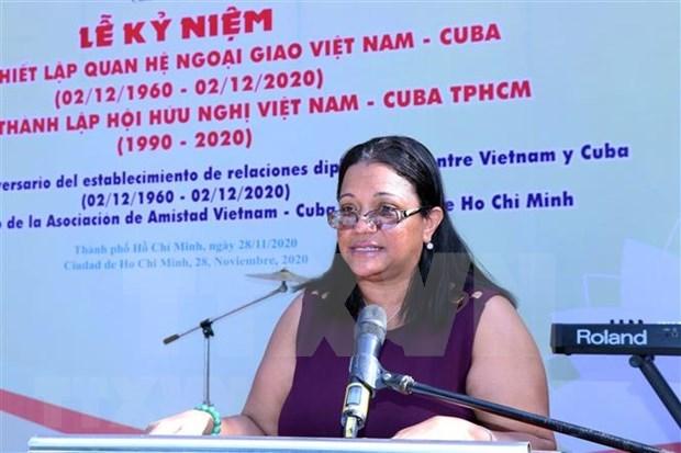 Conmemoran en Ciudad Ho Chi Minh aniversario 60 de nexos diplomaticos Vietnam-Cuba hinh anh 1