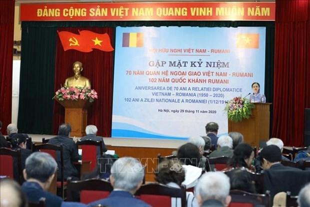 Celebran en Hanoi Aniversario 70 de establecimiento de relaciones diplomaticas Vietnam - Rumania hinh anh 1