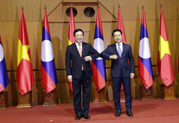 Consulta politica Vietnam-Laos en Vientiane hinh anh 1