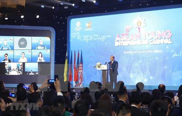 Ratifica Vietnam apoyo conexion de empresarios jovenes de la ASEAN hinh anh 1