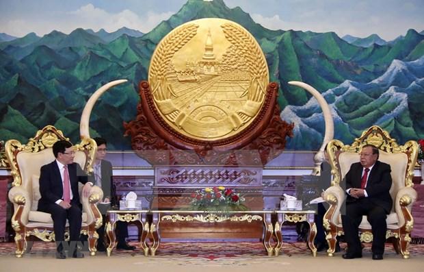 Vietnam y Laos fortalecen relaciones diplomaticas hinh anh 1