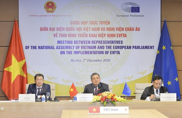 Impulsan cooperacion interparlamentaria para implementacion de tratado comercial Vietnam-UE hinh anh 1