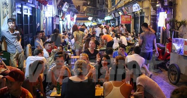 Distrito de Hoan Kiem promueve actividades economicas nocturnas hinh anh 1