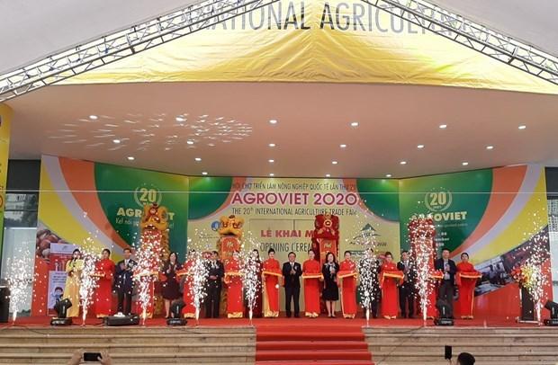 AgroViet2020 en Hanoi destaca numerosos productos agricolas nacionales hinh anh 1