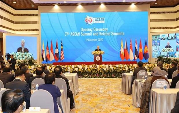 Huella impresionante de Vietnam durante el ano de presidencia de ASEAN 2020 hinh anh 1