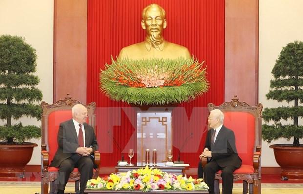 Destaca maximo dirigente de Vietnam relaciones estrategicas con Rusia hinh anh 1