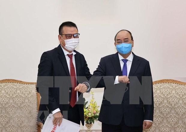 Recibe premier de Vietnam a dirigente de grupo tailandes SCG hinh anh 1