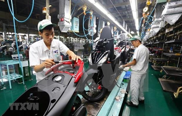 Industria de motocicletas de Indonesia enfrentan dificultades debido al COVID-19 hinh anh 1