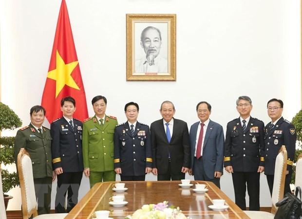 Robustecen Vietnam y Corea del Sur cooperacion policial hinh anh 1