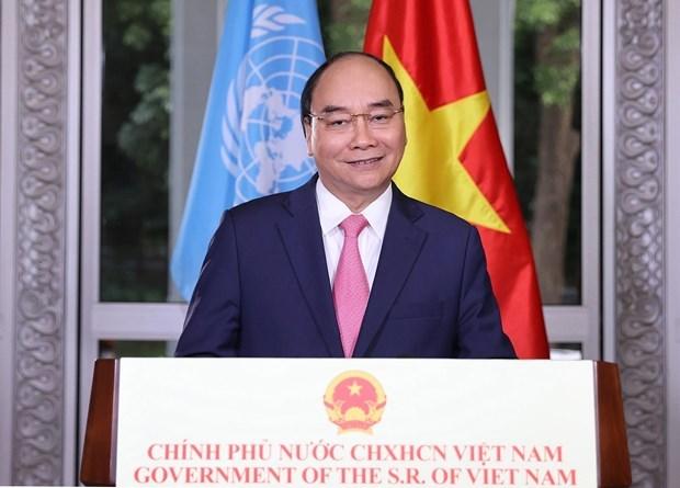 Premier vietnamita exhorta a aunar esfuerzos para superar pandemia de COVID-19 hinh anh 1