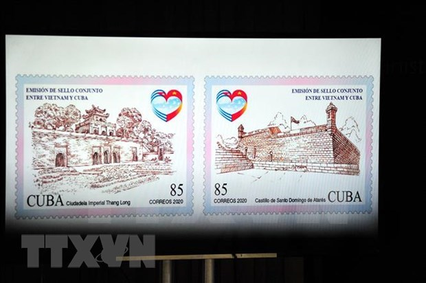 Cancelan Vietnam y Cuba sello postal por 60 anos de nexos ofciales hinh anh 1