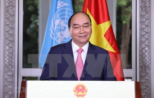 Premier de Vietnam pide promover cooperacion internacional para repeler el COVID-19 hinh anh 1