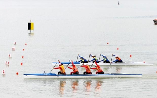 Unos 300 atletas participan en regata nacional de Canoa 2020 hinh anh 1