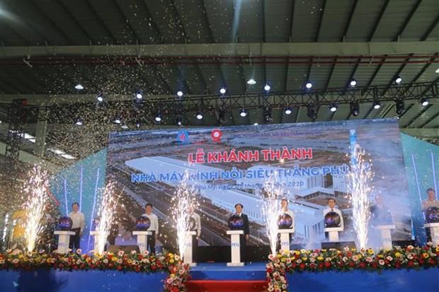 Comienzan construccion de fabrica de vidrio flotado super blanco en provincia vietnamita hinh anh 1