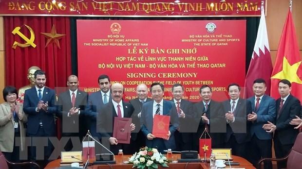 Vietnam y Qatar fomentan cooperacion en sector juvenil hinh anh 1