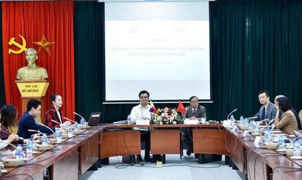 Analizan perspectivas de relaciones de asociacion estrategica Vietnam-Filipinas hinh anh 1