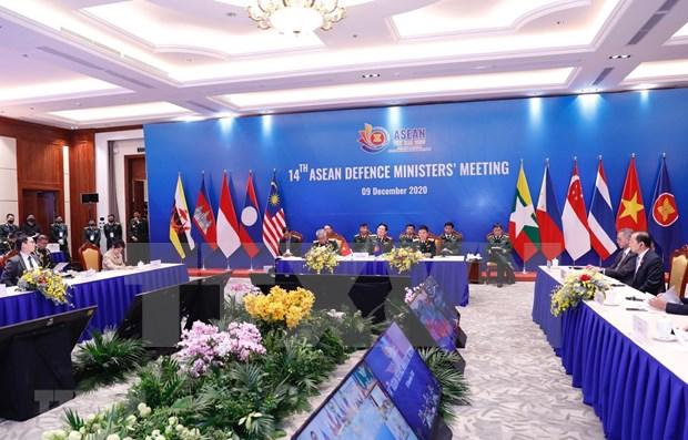 Celebran XIV Reunion de Ministros de Defensa de la ASEAN hinh anh 1