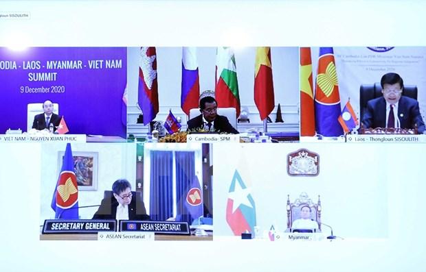 Sesiona decima Cumbre de cooperacion Camboya-Laos-Myanmar-Vietnam hinh anh 1