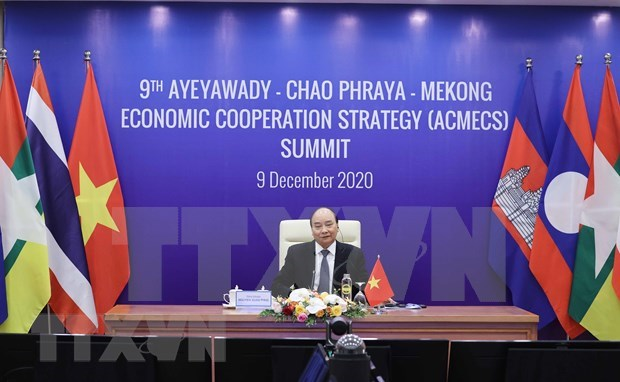 Afirma Vietnam importancia de cooperacion entre cinco paises en region de Mekong hinh anh 1
