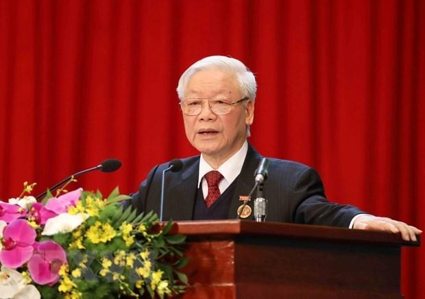 Maximo dirigente de Vietnam pide renovar trabajo de emulacion patriotica hinh anh 1