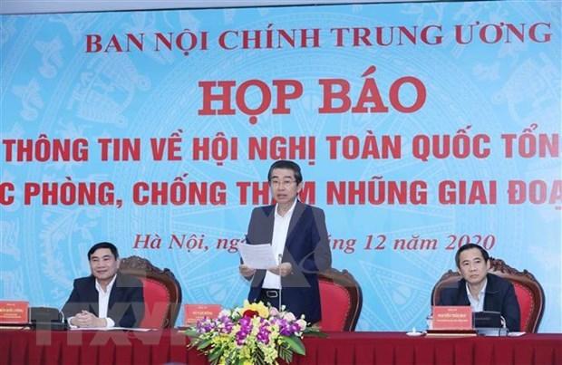 Celebraran en Hanoi Conferencia nacional de balance de la lucha anticorrupcion hinh anh 1