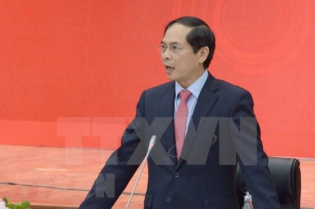 Se reunen representaciones diplomaticas de Vietnam en ultramar con dirigentes de provincias centrales del pais hinh anh 1
