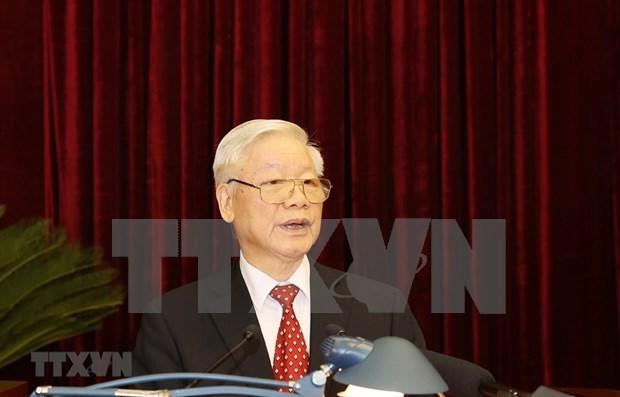 Inauguran XIV pleno del Comite Central del Partido Comunista de Vietnam hinh anh 1