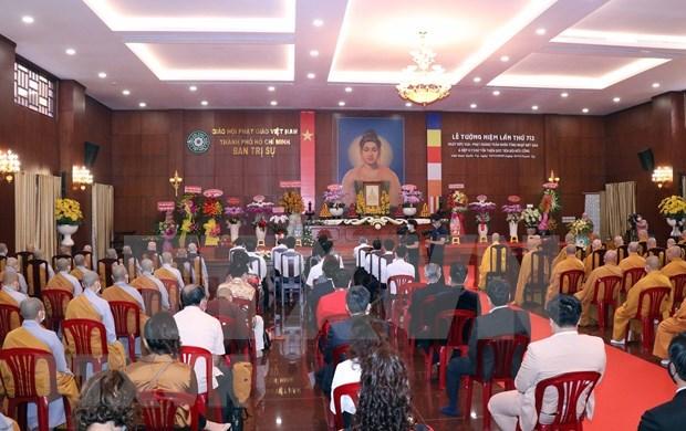 Efectuan solemne ceremonia en homenaje a rey budista Tran Nhan Tong hinh anh 1