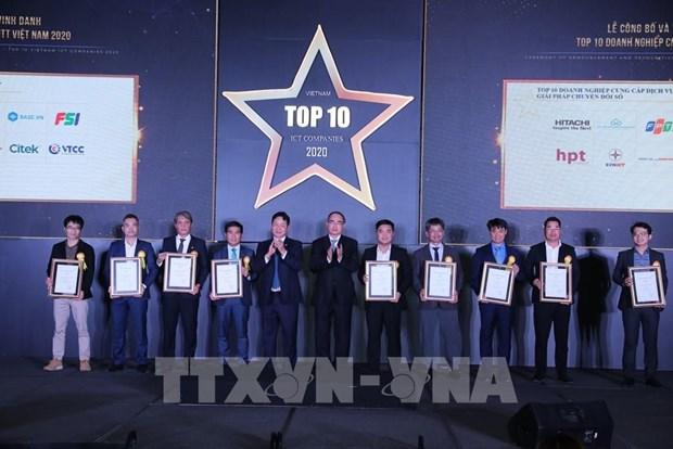 Reconocen a 10 principales empresas de tecnologia de la informacion de Vietnam hinh anh 1