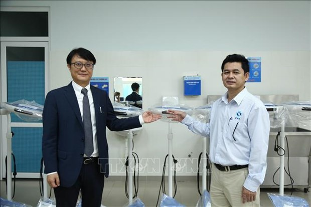Provincia vietnamita recibe equipos medicos sudcoreanos hinh anh 1