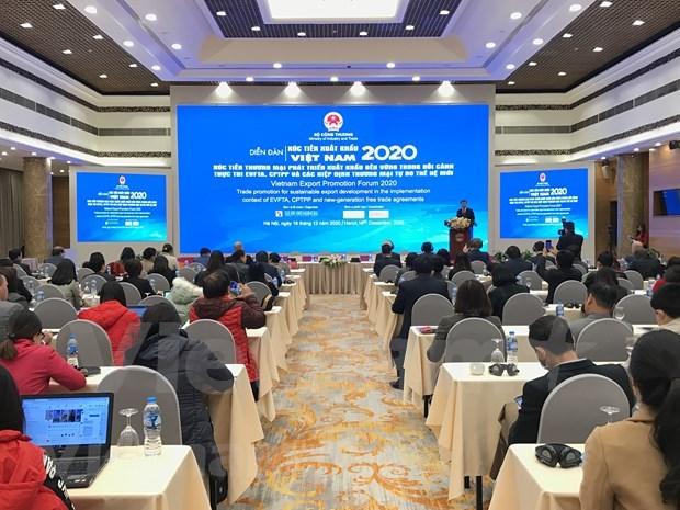 Exportaciones de Vietnam ascenderan a 267 mil millones de dolares en 2020 hinh anh 1