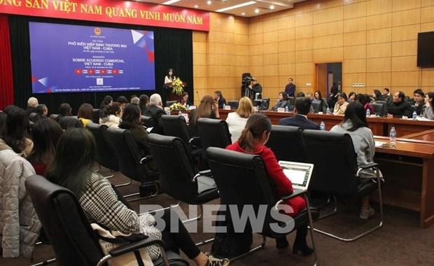 Actualizan a empresas vietnamitas informaciones sobre exportacion a Cuba hinh anh 1