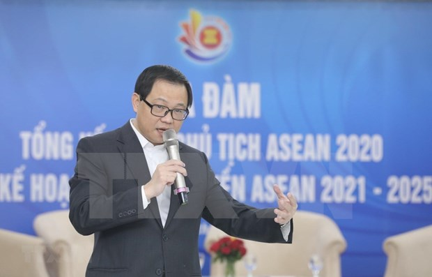 Efectuan coloquio de prensa sobre balance de la presidencia de Vietnam en la ASEAN 2020 hinh anh 1