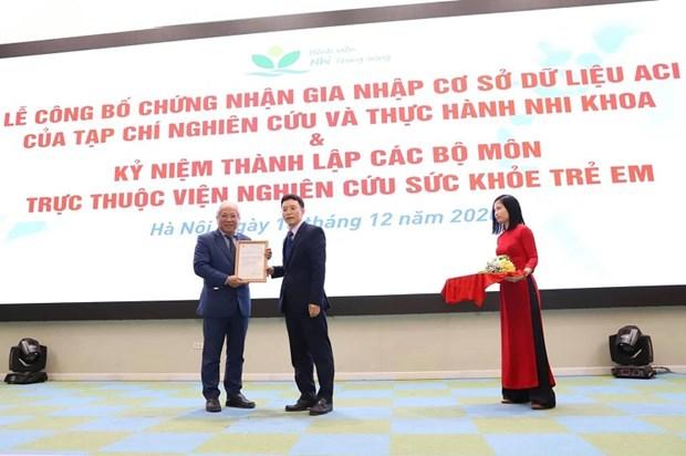 Revista sobre Pediatria de Vietnam se integra en base datos regional hinh anh 1