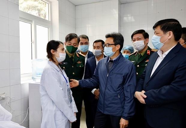 Mantienen salud estable voluntarios en ensayo de vacuna antiCOVID de Vietnam hinh anh 1
