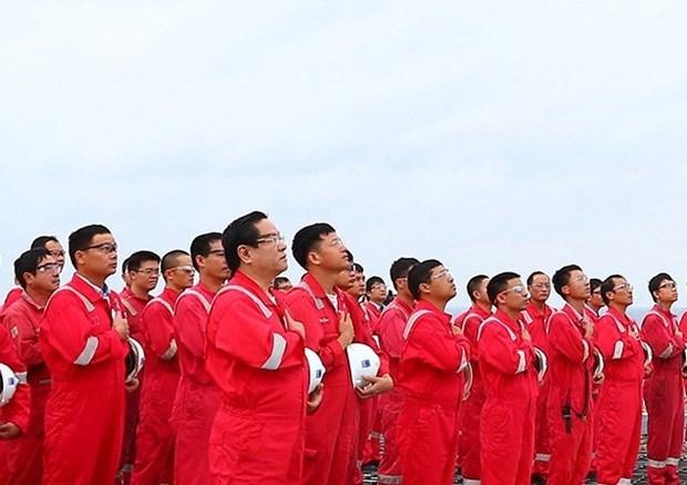 Ceremonia de izamiento de bandera de empresa vietnamita establece record hinh anh 2