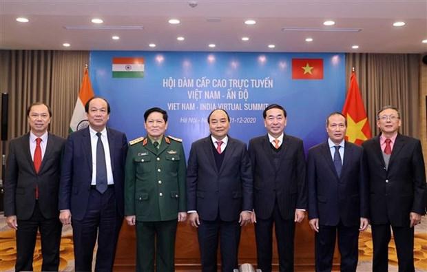 Vietnam y la India, determinados a profundizar nexos pese a impactos del COVID-19 hinh anh 1
