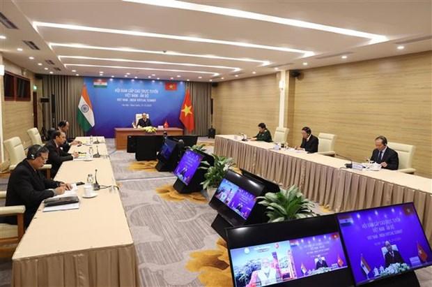 Vietnam y la India, determinados a profundizar nexos pese a impactos del COVID-19 hinh anh 2